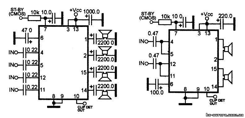 микросхема унч tda 7374 - Всякое разное.